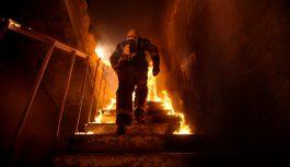 東京・多摩のビル建設現場火災でAWSのビルが炎上